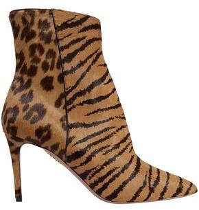 Aquazzura Alma Printed Calf Hair Ankle Boots