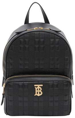 Burberry TB Quilted Check Leather Backpack