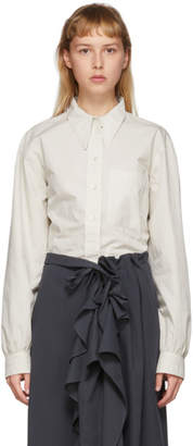 Lemaire Off-White Pointed Collar Shirt