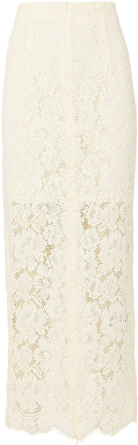 Ganni Jerome Midi Lace Skirt