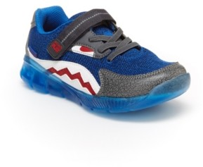 Stride Rite Made2Play Lighted Shark Toddler and Little Boys Lighted Athletic Shoe