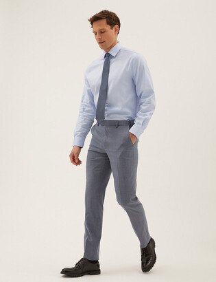 Marks and Spencer The Ultimate Blue Tailored Fit Trousers