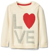 Gap Love intarsia crew sweater