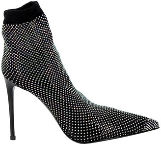 Le Silla Black Patent Leather Ankle Boots