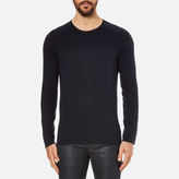 Hugo San Francisco Cotton Silk Cashmere Jumper Navy