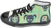 Angelinana Custom Suicide Squad Character Posters Vintage Floral Women's Classic High Top Canvas Shoes