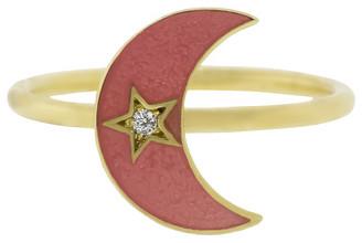 Andrea Fohrman Enamel Crescent Moon Ring
