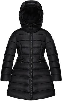 Moncler Charpal Detachable-Hood Puffer Coat, Pink, Size 8-14