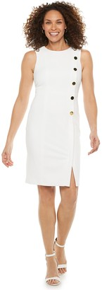 Chaps Women's Button-Accent Sheath Dress