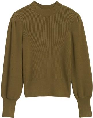 Banana Republic Puff-Sleeve Cropped Sweater