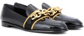 Burberry Embellished Patent Leather Loafers