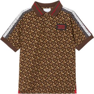 Burberry Boy's Archie Mono TB-Monogram Polo Shirt, Size 3-12