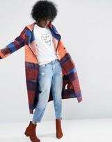ASOS Made In Kenya Hooded Throw On Coat In Wool