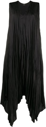Joseph Pleated Handkerchief-Hem Dress