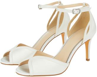 Monsoon Kirsty Peep Toe Bridal Sandals Ivory