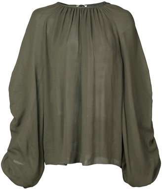Rochas Ruched Sleeve Blouse