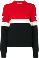 Givenchy striped star patch jumper