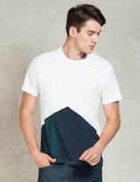 Levi's White/Green/Blue Commuter Drop Hem T-Shirt