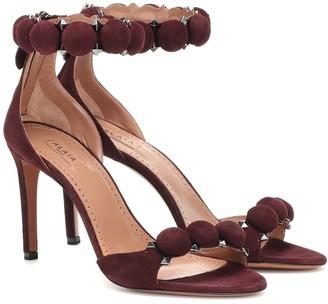 Alaã ̄A Embellished suede sandals