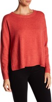 Eileen Fisher Crew Neck Boxy Hi-Lo Sweater