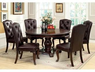 Hokku Designs Dark Cherry Upholstered Dining Chair