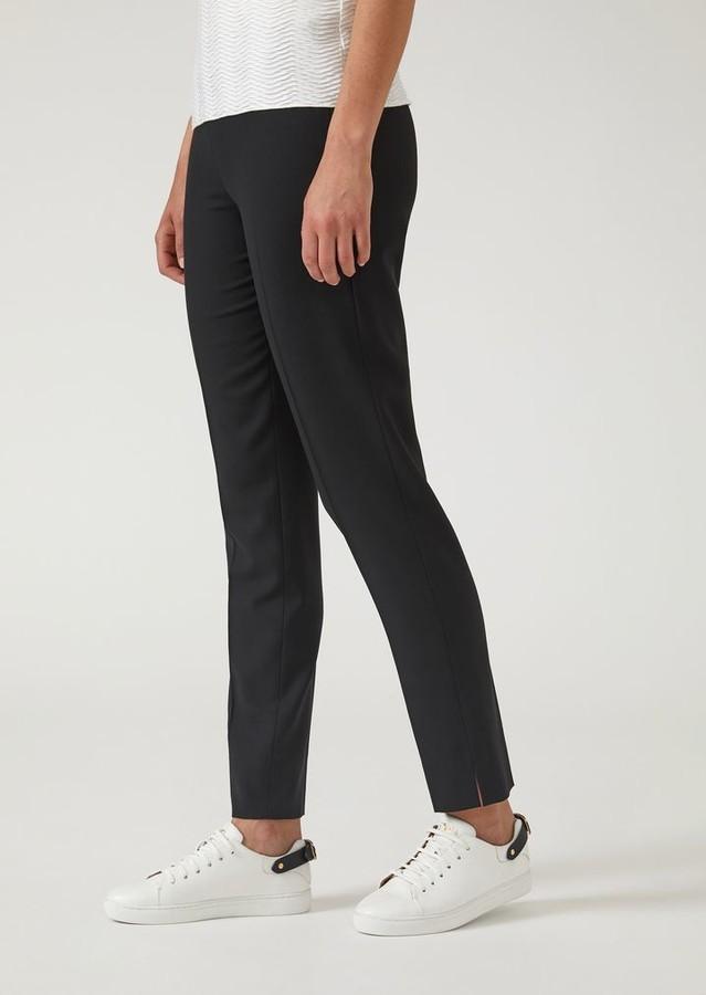 557baf580b Stretch Wool Cigarette Trousers With Hem Slits