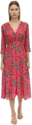 Saloni Eve Printed Silk Crepe De Chine Dress