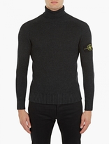 Stone Island Charcoal Ribbed Turtleneck Sweater