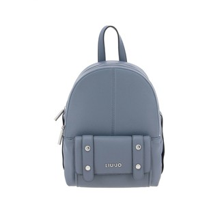 Liu Jo Backpack In Synthetic Leather With Metallic Logo