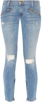 Current/Elliott The Silverlake Distressed Low-Rise Skinny Jeans