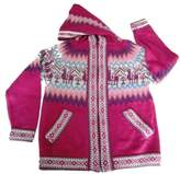 Alpakaandmore Unisex Child Hooded Inca Cardigan Alpaca Design Alpaca Wool