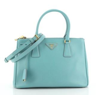 Prada Double Zip Lux Tote Saffiano Leather Small