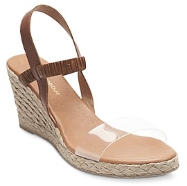 Andre Assous Women's Alberta Slip On Slingback Wedge Sandals