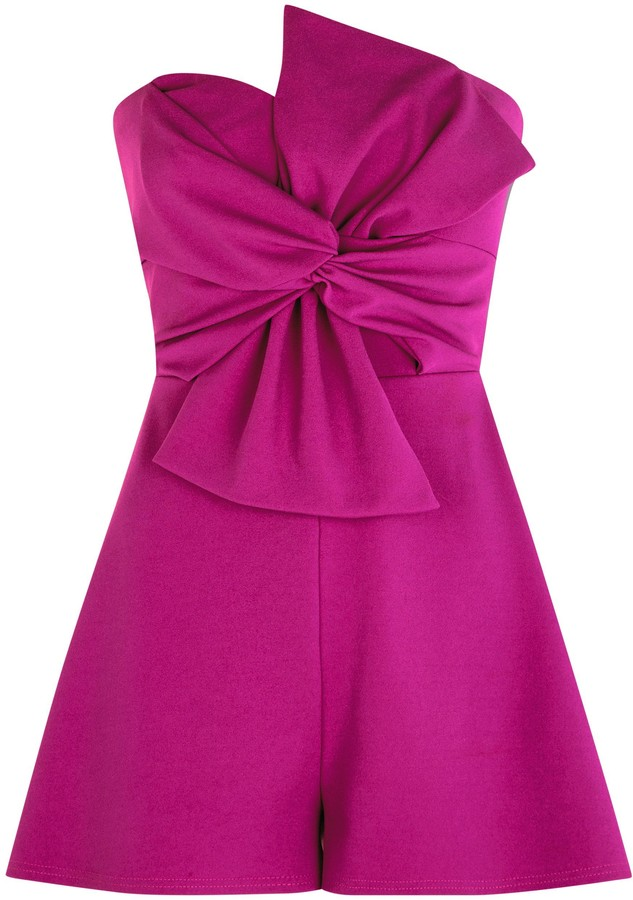 Thumbnail for your product : New Look Bow Front Strapless Playsuit