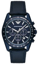 Emporio Armani Men's Chronograph Nylon Strap Watch, 44Mm