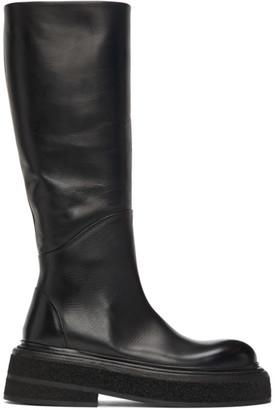 Marsèll Black Zuccone Mid-Calf Boots