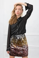J.ING Sequin Ombre Mini Skirt