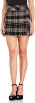 Free People Plaid Wool-Blend Mini Skirt