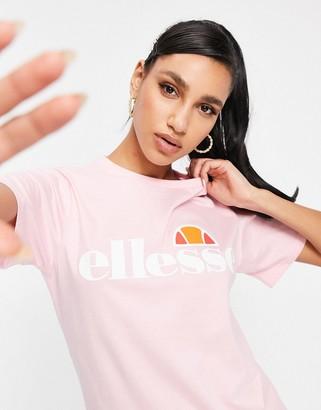 Ellesse boyfriend t-shirt in pink