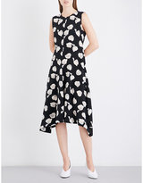 Theory Nophella fit-and-flare silk-crepe dress
