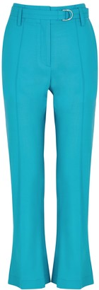 Eudon Choi Evelyn Kick-flare Stretch-wool Trousers