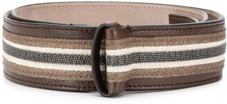 Brunello Cucinelli Adjustable Striped Belt