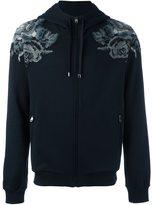 Dolce & Gabbana embroidered rose zip hoodie
