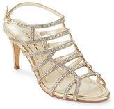 Caparros Harmonica Embellished Leather Stiletto Sandals