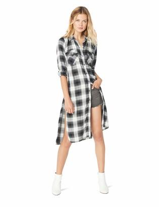 Jessica Simpson Women's Pixel Button Down Duster Shirt