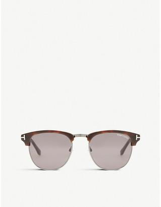 Tom Ford Tf0248 Henry square half-frame sunglasses