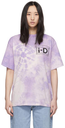 Aries Purple i-D Edition Tie-Dye Flower T-Shirt