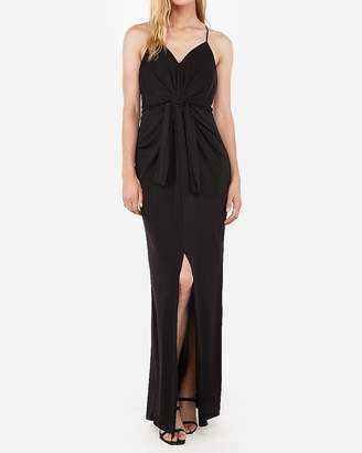 Express Knot Front Racerback Maxi Dress