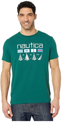 Nautica Tee Shirt (Spruce) Men's Clothing