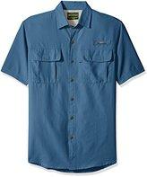 G.H. Bass Men's Explorer Point Collar Short Sleeve Fishing Shirt